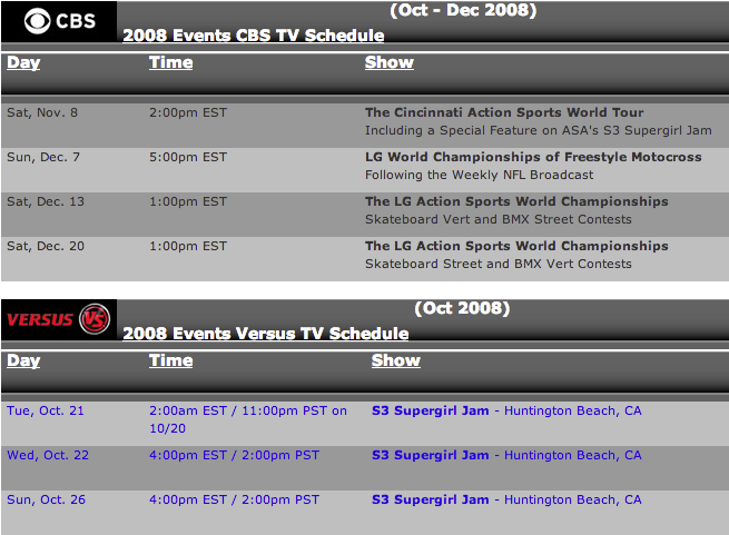2008 dom tv sched 1